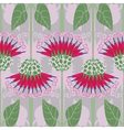 Seamless pattern with decorative burdock vector image vector image
