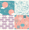 set of chinese seamless patterns and vector image