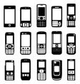 set of mobile phone vector image vector image