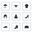 set of simple garments icons vector image vector image
