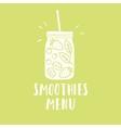 smoothies menu smoothie jar silhouette vector image