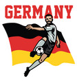 soccer player of germany vector image vector image