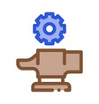 spare parts for production metallurgical icon vector image vector image