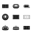 Stadium icons set simple style vector image