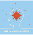 stay home web banner with coronavirus pandemic vector image