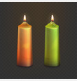 stock realistic old candles vector image vector image