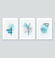 teal and peach abstract watercolor compositions vector image vector image