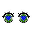 valentines day card cute cartoon eye with heart vector image vector image