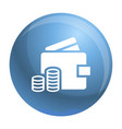 wallet money icon simple style vector image