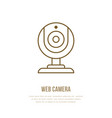 web cam flat line icon internet communication vector image
