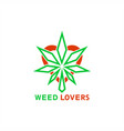 weed lovers logo vector image vector image