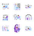 world book day set holiday poster - flat design vector image vector image