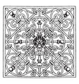 wrought-iron square panel design made by george vector image vector image