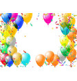 abstract colorful confetti and balloons background vector image vector image