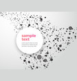 abstract dotted background with sample text vector image vector image