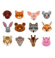 animal mask animalistic masking face of vector image vector image