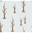 Bare winter trees seamless pattern vector image vector image