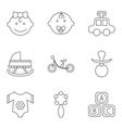 barelated flat icon set vector image