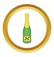 Bottle of champagne icon vector image vector image