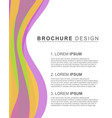 brochure template cover design colorful vector image