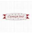 Canada Day greeting Label with Ribbon vector image