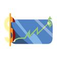 chart digital dollar app vector image