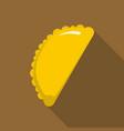 cheburek icon flat style vector image vector image