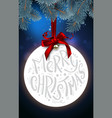 christmas ball with the inscription merry vector image vector image