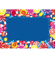 Christmas candy frame vector image vector image