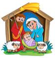 christmas nativity scene 2 vector image