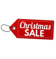 christmas sale label or price tag vector image vector image
