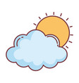 cloud sun hello autumn design icon vector image