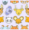 collection stock animal funny doodles vector image vector image