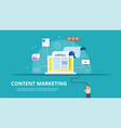 content management smm and blogging concept vector image