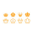 crown icon design template isolated vector image vector image