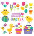 cute spring and easter design elements vector image