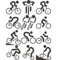cycling icons vector image