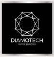 diamond tech logo vector image