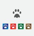 Dog print icons vector image vector image