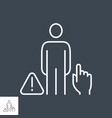 dont touch people related thin line icon vector image
