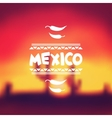 Ethnic mexican background design in native style vector image