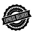 express delivery rubber stamp vector image vector image
