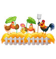 farm theme background with farm animals vector image