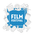 film festival banner template inematography vector image