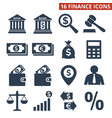 finance icons set on white background vector image