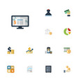 flat icons stock safe bank and other vector image vector image