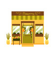 flower shop facade isolated on white background vector image