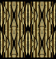 gold tapestry 3d seamless pattern vector image