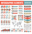 infographic elements template collection vector image vector image
