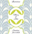 Invitation wedding or greeting card template vector image
